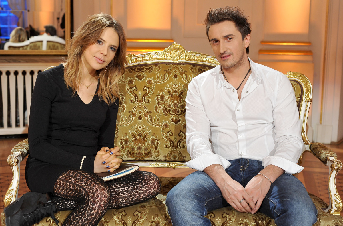 Maja Sablewska i Sebastian Karpiel-Bułecka w domu jurorskim